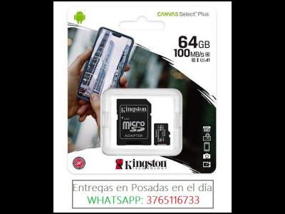 Varios  Tarjeta de Memoria Micro SD KINGSTON 64GB para tablet celulares Notebooks